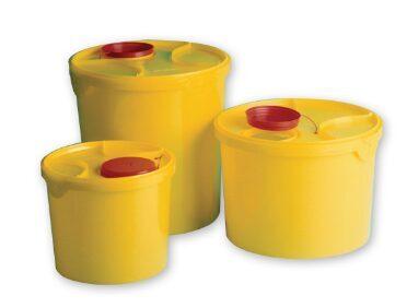 Konteiners/adatu savākšanas trauks/utilizēšanas spainis šļircēm Rigi-Box, 6 litri