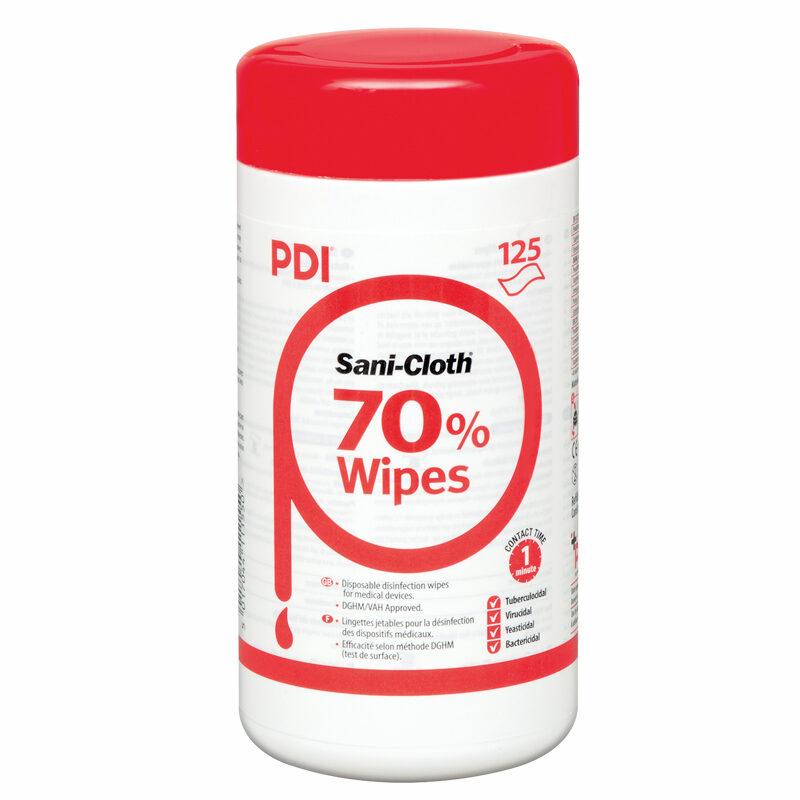 NOLIKTAVĀ! *Augstas kvalitātes spirtu saturošas (70%) mitrās salvetes profesionālai lietošanai - medicīnas ierīču un virsmu dezinfekcijai, 125 gab.