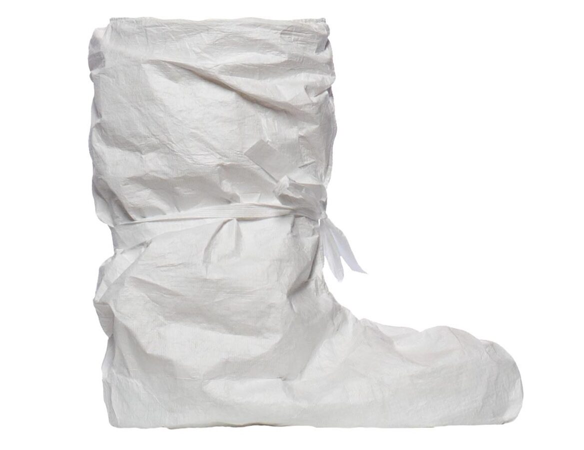 NOLIKTAVĀ! Garās bahilas/apavu pārvalki, pāris (2 gab.), 100% polietilēns, Tyvek®. Ražotas Vācijā