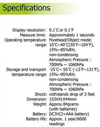 NOLIKTAVĀ! *Bezkontakta infrasarkanais pieres termometrs SEJOY DET-306/Non-contact infrared thermometer