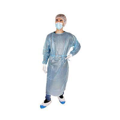 NOLIKTAVĀ! Vienreizējās lietošanas medicīnisks ūdensizturīgs halāts ABENA, zils, 142 x 150 cm (garums x platums), izmērs XL