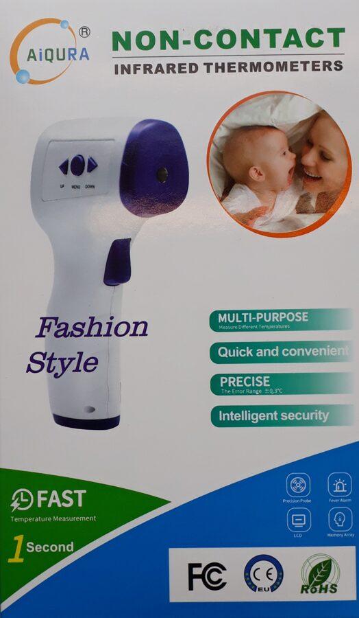 NOLIKTAVĀ! *Bezkontakta infrasarkanais termometrs AIQURA AD801/Non-contact infrared thermometer
