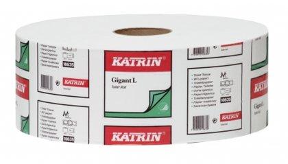 Tualetes papīrs KATRIN Classic Gigant L 2, 2-slāņu, 440 m, balts, perforēts, 6 ruļļi