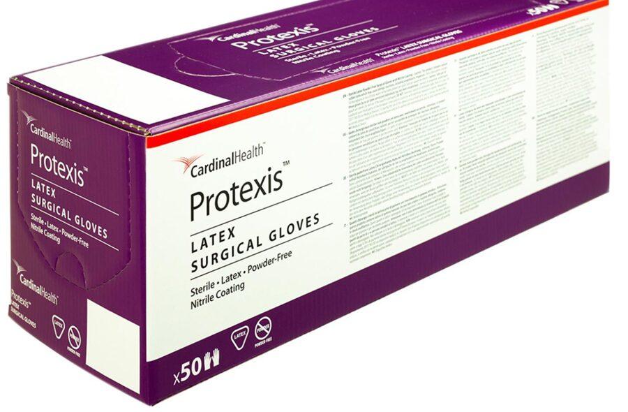 Sertificēti augstas kvalitātes STERILI ķirurģiskie nepūderēti LATEKSA gumijas cimdi Protexis™, 100 gab. (50 pāri), pāris atsevišķi iepakots, brūni, izmērs 7.5/Protexis™ Latex Surgical Gloves