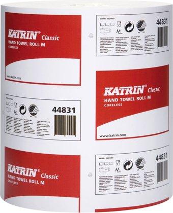 Roku dvieļi Katrin Classic M, bez serdes, balti, 320 m, 1-slāņu, 6 ruļļi
