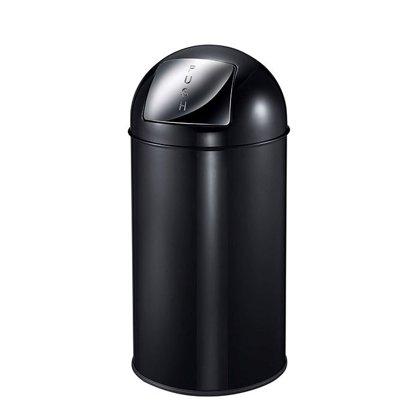 Atkritumu tvertne STADSING, no nerūsējošā tērauda, melna, 40 litri. Aprīkota ar klusu aizvēršanas sistēmu
