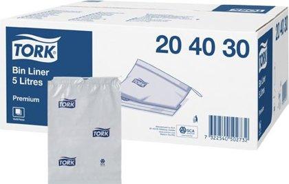 Sanitārie atkritumu maisi TORK, 5 litri, 50 gab., pelēki