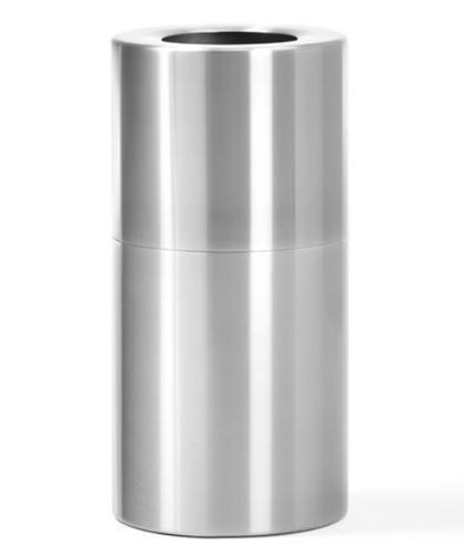 *Eleganta alumīnija atkritumu tvertne, ø375, 70 litri