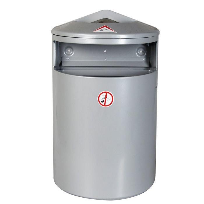 *Āra atkritumu tvertne, metāla, 35 litri, pelēka vai brūna
