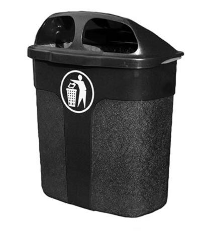 *Āra atkritumu tvertne, 40 litri, melna
