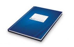 Kantorgrāmata A4, 96 lpp., rūtiņu, zilā krāsā