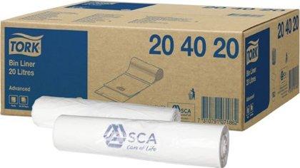 Atkritumu maisi TORK, 20 litri, 100 gab., balti
