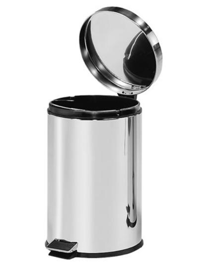 *Atkritumu tvertne ar pedāli, 12 litri, nerūsējošā tērauda