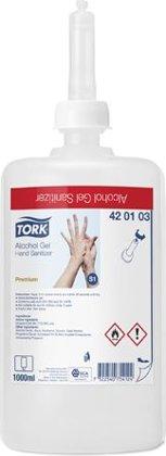 *Roku dezinfekcijas līdzeklis Tork PREMIUM HANDSANITIZER ALCOHOL GEL S1 sistēmai, 1 litrs