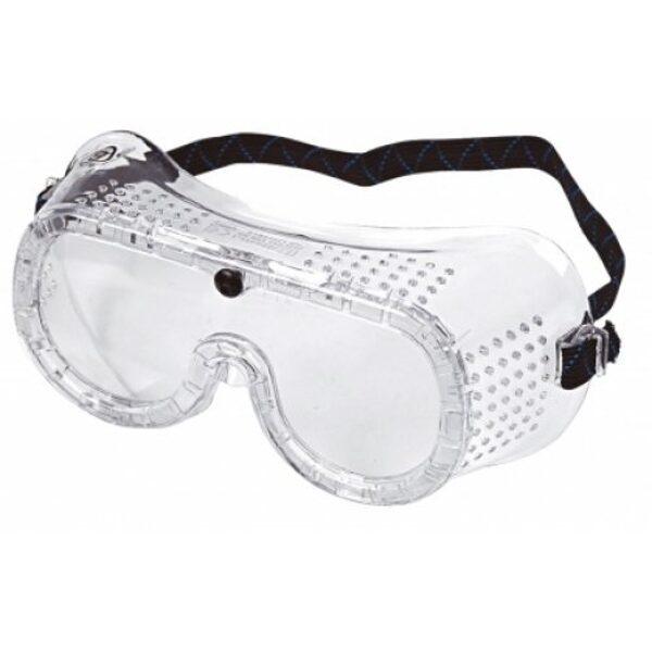 NOLIKTAVĀ! Apjoma cenu skatīties pie produkta apraksta! Pieguļošas aizsargbrilles ar elastīgu gumiju un ventilāciju GC-001