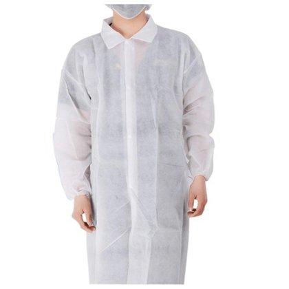 NOLIKTAVĀ! *Vienreizējās lietošanas halāts, ar līpslēdzēja stiprinājumu, izmērs XL, 2XL vai 3XL, 1 gab.