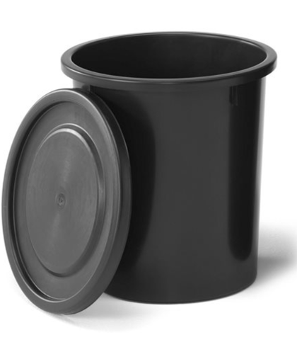*Plastmasas atkritumu tvertne, Ø 395x430 mm, 35 litri, melna