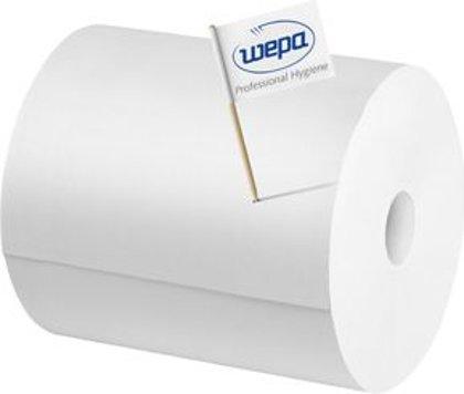 *Industriālais papīrs WEPA COMFORT, 2 ruļļi, 2 kārtas, 350m. Piemērots virsmu, priekšmetu un roku slaucīšanai