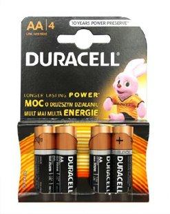 Baterijas Duracel Alkaline, AA/MN1500 B4CB 1,5V, 4gab.