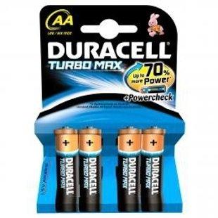 Baterijas Duracel AA/MN1500 B4 TURBO MAX 1,5V, 4gab.
