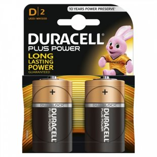 Baterijas Duracell MN 1300 Plus Power D (LR20) B2, 2gab.