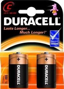 Baterijas Duracell C/MN1400B2CB 1,5V, LR14, 2gab.