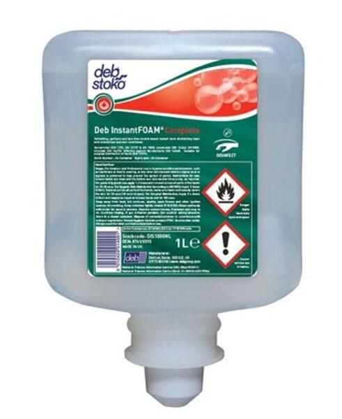 Roku dezinfekcijas putas uz spirta bāzes, 1 litrs. 15 sekunžu laikā iznīcina 99,999 % baktēriju un sēnīšu