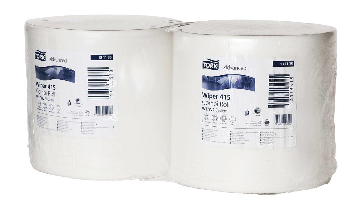 Industriālais papīrs TORK ADVANCED WIPER 415, 2 ruļļi, 1 kārta, 460m. Izturīgs ar labu absorbētspēju. Piemērots vietām ar lielu noslogojumu