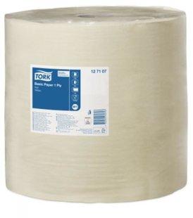 Industriālais papīrs TORK BASIC PAPER, 1 rullis, 1 kārta, 1190m. Ekonomisks. Piemērots vietām ar lielu patēriņu