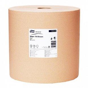 Industriālais papīrs TORK UNIVERSAL WIPER 310 BROWN, 1 rullis, 1 kārta, 1000m. Ekonomisks. Piemērots vietām ar lielu patēriņu